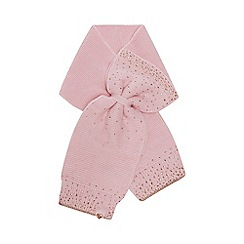 Baker by Ted Baker - Girls' pink diamante embellished bow scarf