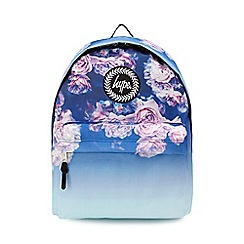 Hype - Multicoloured faded rose print embroidered logo backpack