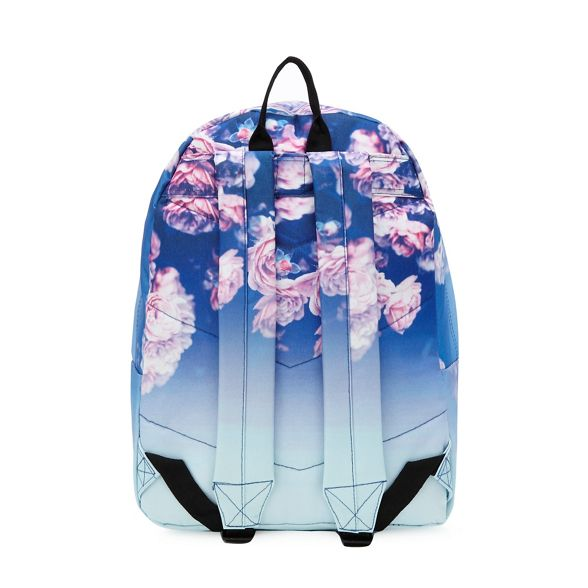 Multicoloured embroidered print Hype logo backpack faded rose WzFxBWw10q