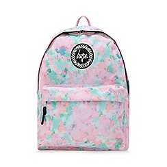 Hype - Multicoloured sponge print embroidered logo backpack