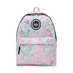 Hype - Multicoloured sponge print embroidered logo backpack
