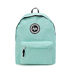 Hype Light Green Speckle Print Embroidered Logo Backpack