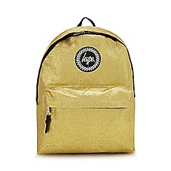 9c96496d5243 Hype - Gold glitter embroidered logo backpack
