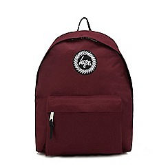 Hype - Dark red embroidered logo backpack