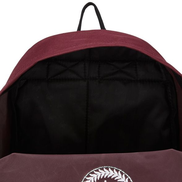 backpack red Dark embroidered Hype logo IaUwqcz