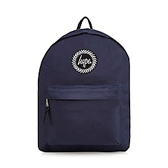 Hype - Navy embroidered logo backpack