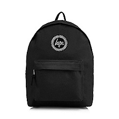 Hype - Black embroidered logo backpack