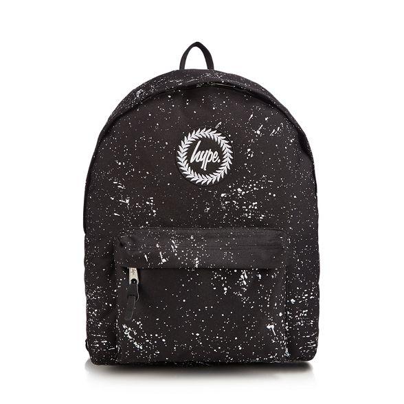 print Hype speckle embroidered Black backpack logo nETaTzvxg