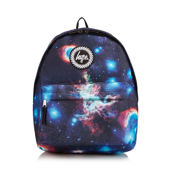 space Navy embroidered Hype logo backpack print p1S5SPnzq