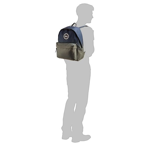 backpack Hype Navy embroidered faded and logo green 7gqY67w