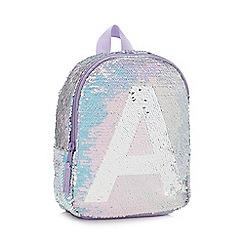 bluezoo - Girls' Light Blue Sequin Monogram Backpack