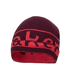 Baker by Ted Baker - Kids' wine red logo print beanie hat