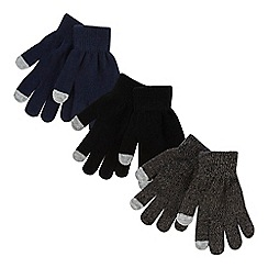 bluezoo - '3 pack boys' touch screen gloves