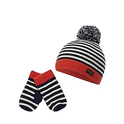 J by Jasper Conran - Kids  Multicoloured Striped Knitted Beanie and Mittens  Set b31e774eab7e8