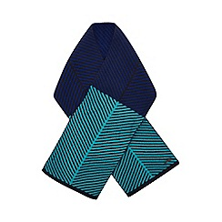 Baker by Ted Baker - Kids' navy chevron stripe scarf