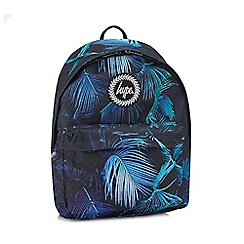 Hype - Black paint palm print backpack