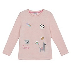 bluezoo - Girls' light pink badge top