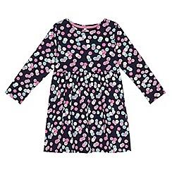 bluezoo - Girls' navy confetti print dress