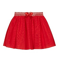 bluezoo - Girls' red netted skirt