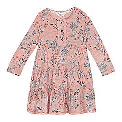 Mantaray - Girls' light pink woodland print dress