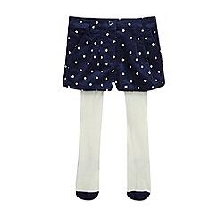 J by Jasper Conran - Girls' navy spot shorts and tights set