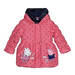 Peppa Pig - Girls' pink 'Peppa Pig' padded coat