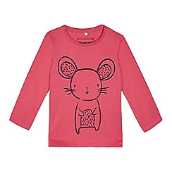 bluezoo - Girls' pink mouse print top