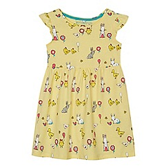 bluezoo - Girls' yellow bunny print dress