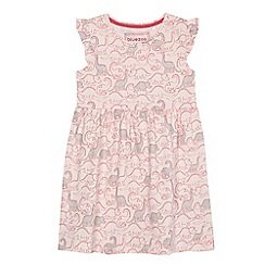 bluezoo - Girls' pink dinosaur print jersey dress