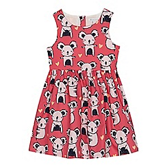 bluezoo - Girls' pink koala print dress