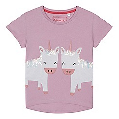 bluezoo - Girls' lilac unicorn applique t-shirt