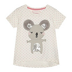 bluezoo - Girls' white koala applique t-shirt