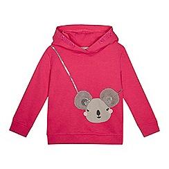 bluezoo - Girls' pink koala hoodie