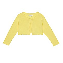 bluezoo - 'Girls' yellow scalloped cardigan