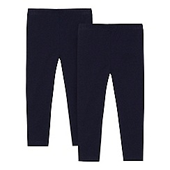 bluezoo - Pack of two girls' navy leggings