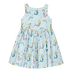 bluezoo - 'Girls' light blue mermaid print dress