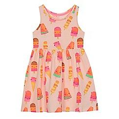 bluezoo - 'Girls' multi-coloured ice cream print cotton dress