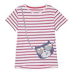 bluezoo - 'Girls' pink cat applique t-shirt