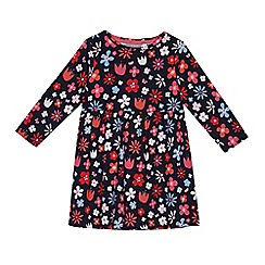bluezoo - Girls' navy floral print dress