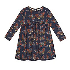 Mantaray - Girls' blue floral print jersey dress