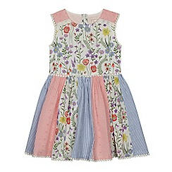 Mantaray - Girls' multicoloured floral print panelled dress