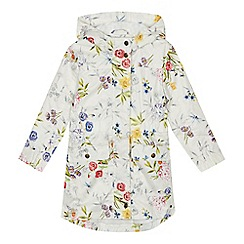 Mantaray - 'Girls' white floral print coat