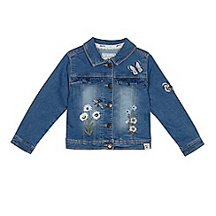 Mantaray - 'Girls' blue embroidered denim jacket