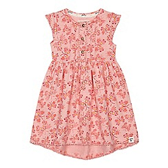 Mantaray - 'Girls' pink butterfly print dress