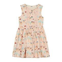 Mantaray - 'Girls' light pink camel print cotton dress