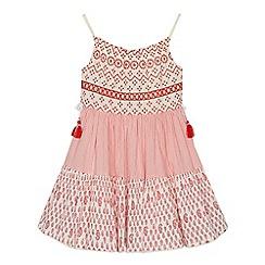Mantaray - 'Girls' red tiered sleeveless dress