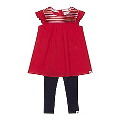 Mantaray - 'Girls' pink short sleeve tunic and navy leggings set