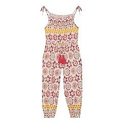 Mantaray - Girls' multi-coloured tile print jumpsuit