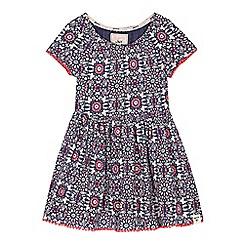 Mantaray - 'Girls' navy floral butterfly print jersey dress