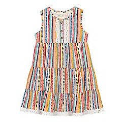 Mantaray - 'Girls' multi-coloured striped tiered dress